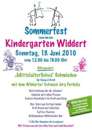 Einladung Sommerfest 2010